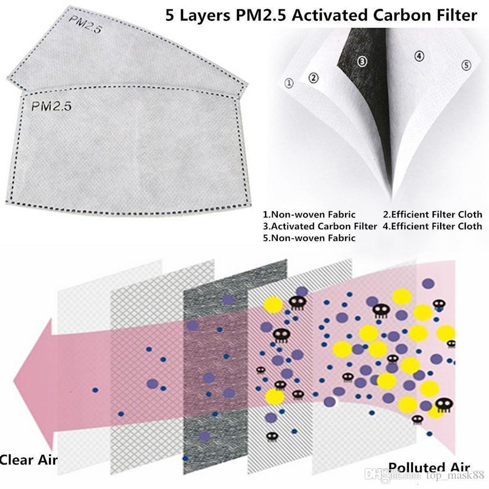 Unisex Cotton Face Masks with Breath Valve PM2.5 Mouth Mask Anti-Dust Reusable fabric mask with 2 filters inside