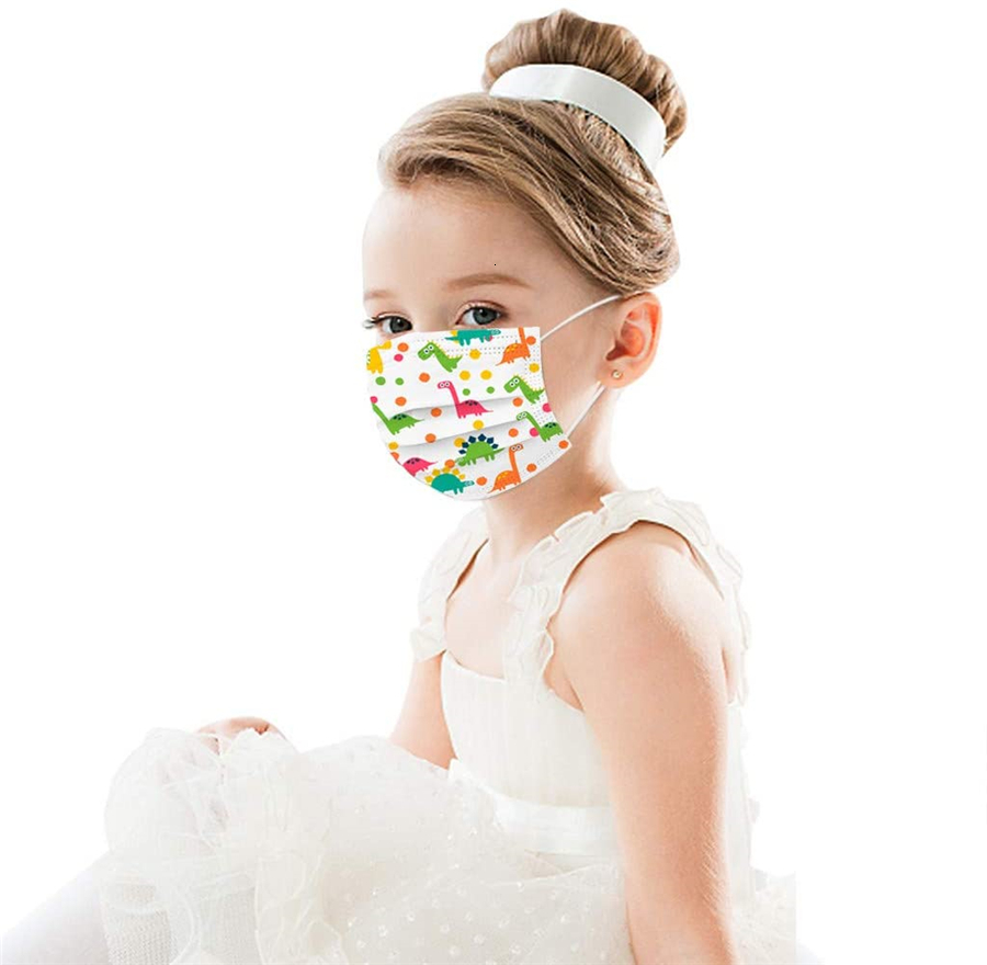 Cute Child Kids Respirator Disposable Cartoon Boys Girls Non-Woven Mouth Mask Anti Pollution Breathable print Face Masks for kids