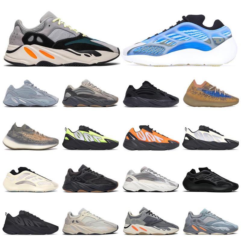 New kanye 700 trainers mens running shoes Azareth Mist Azael Hospital blue Wave Runner Bone Salt womens fashion sports sneakers outdoor