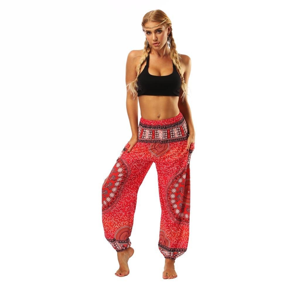 TL006- Red round circle wide leg loose yoga pant leggings (2)