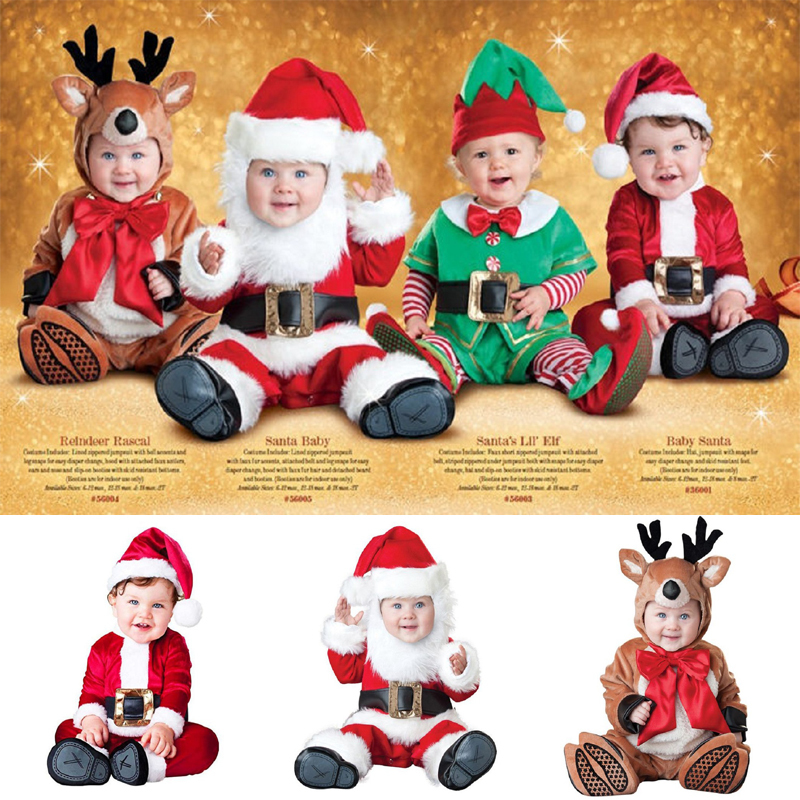 Baby Boys Girls Christmas Halloween Costume cartoon Santa Claus deer cosplay clothes winter clothing set infant toddler outfit