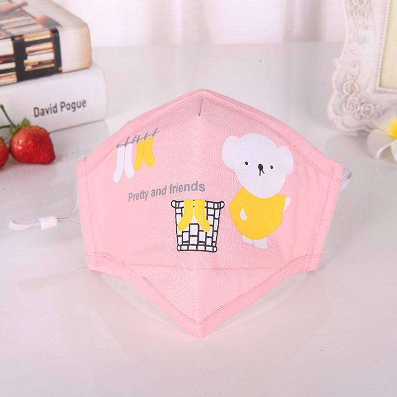 Girls Mask Earloop Masks Children Pm2.5 Masks Washable Face Anti-dust Anti-pollution Cartoon Face Mouth Boys Kids Breathable Reusable qZmLM