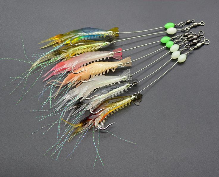 Fishing Artificial Bait With Glow Hook Swivels Anzois Para Pesca Sabiki Rigs Fishing Lure