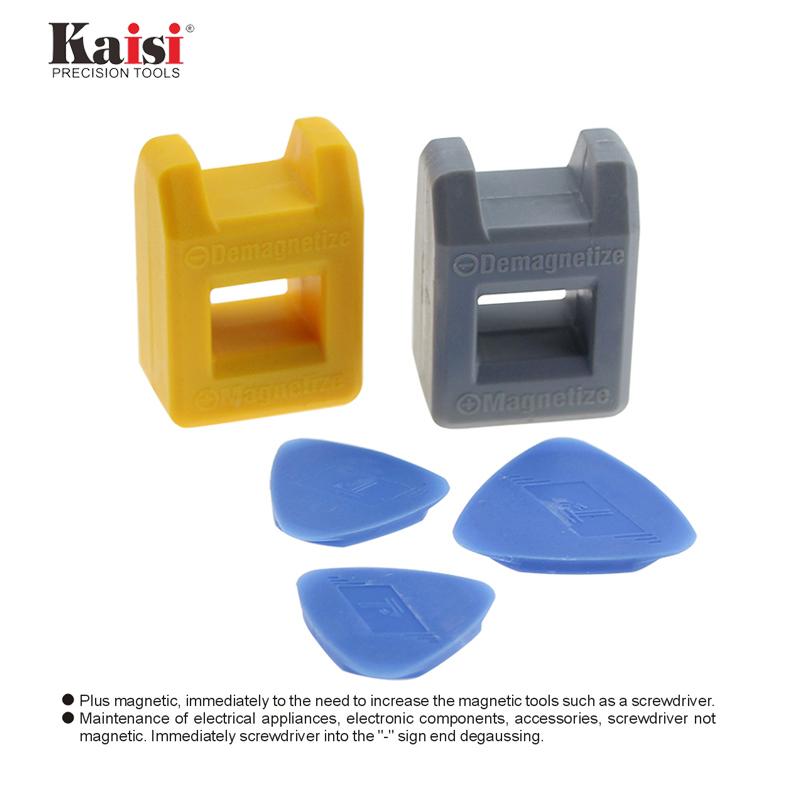 Magnetizer Degausser Outil de construction pour tournevis DIY Manchon /Écrou Vis Bleu