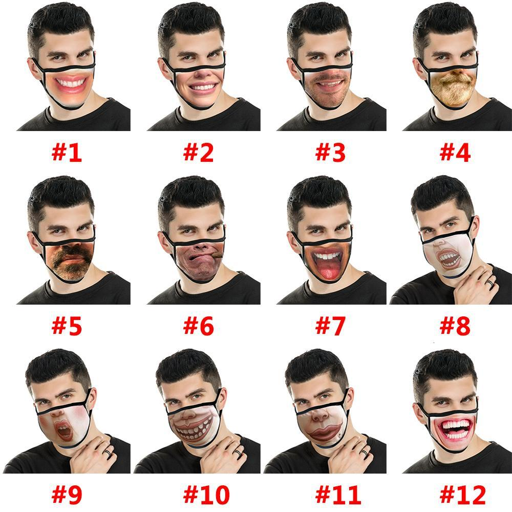 Cotton Party Mask Anime Adult Fun Fancy Novelty Lower Half Face Mouth Reusable Dust Warm Windproof w-00144