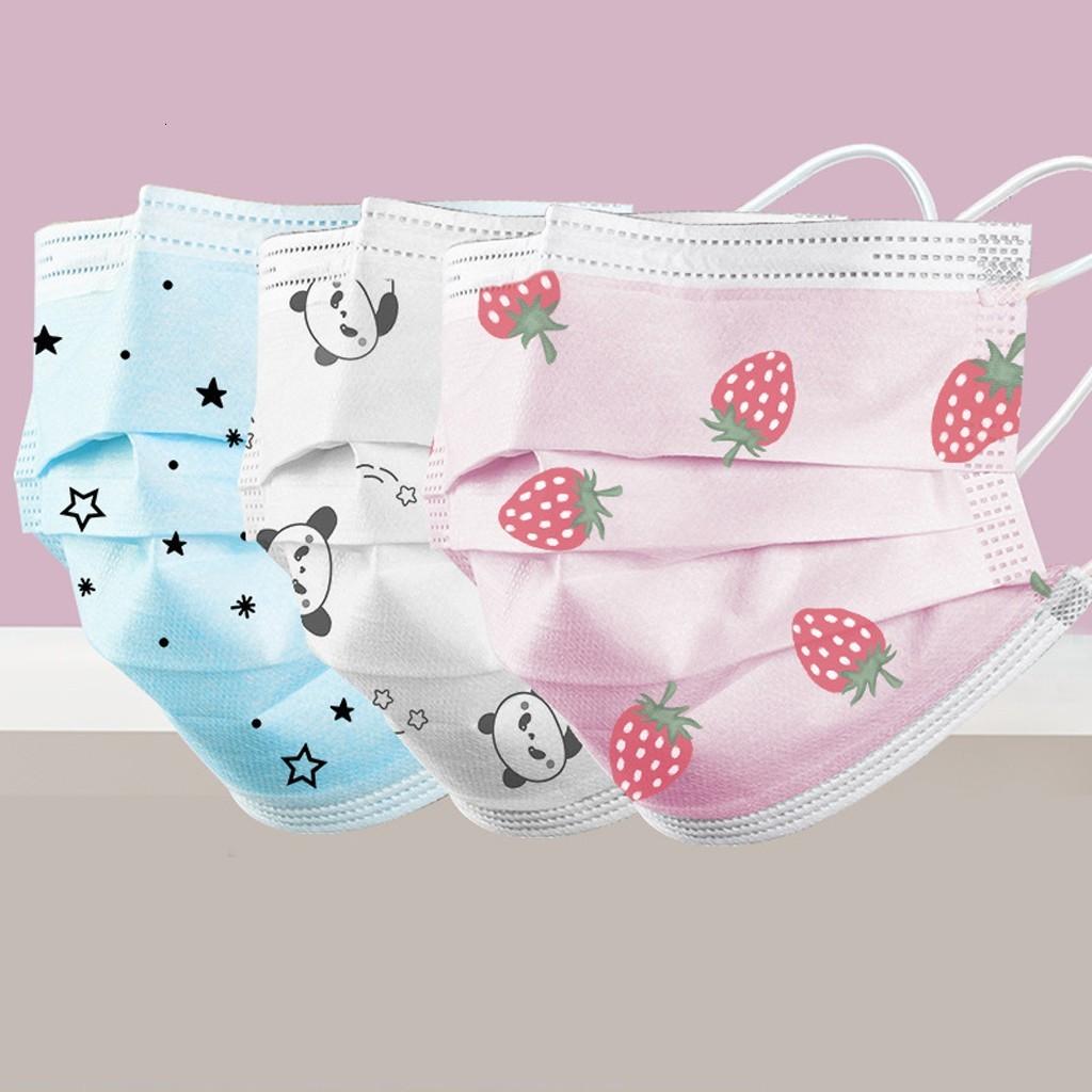 adults Strawberry mask disposable fashion 3Ply Ear Loop masks Non-woven meltblown mundschutzmaske mondkapjes tapabocas mascarillas