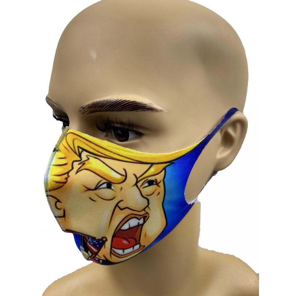 Trump Face Masks Anti-Dust Face Masks Adult Trump American Election Mouth Ice Silk Cotton Masks Reusable Washable Mouth Muffle 8 iyCFw