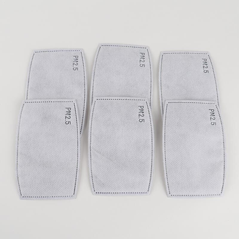 face masks 5 Layers Activated carbon filter PM2.5 Anti Haze mouth Masks replaceable filters for Activate Carbon Mask Use Protective Gear Hot