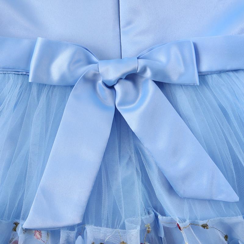 Elegant Pearl Applique Girls Dresses Teenage Princess Birthday Wedding Party Ball Gown Fashion Children Dress For Kids Clothes (2)