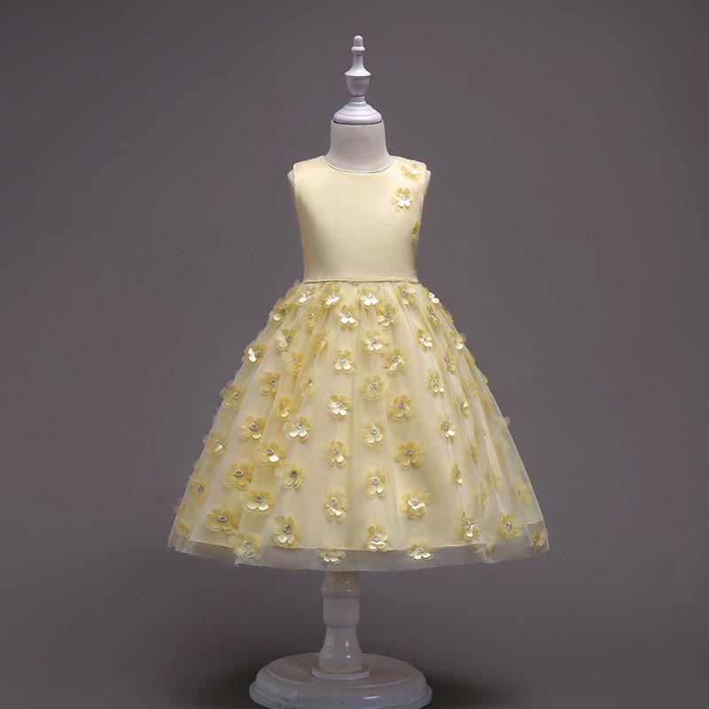 2019 Fashion Children Dresses For Girl Clothes Elegant Fower Girls Dress Kids Princess Birthday Applique Prom Designs Ball Gown (13)
