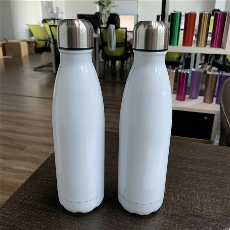 17oz sublimation cola bottle 17oz Stainless Steel Cola bottle Double wall vacuum insulated drinking Cup 500ml outdoor sport water bottles