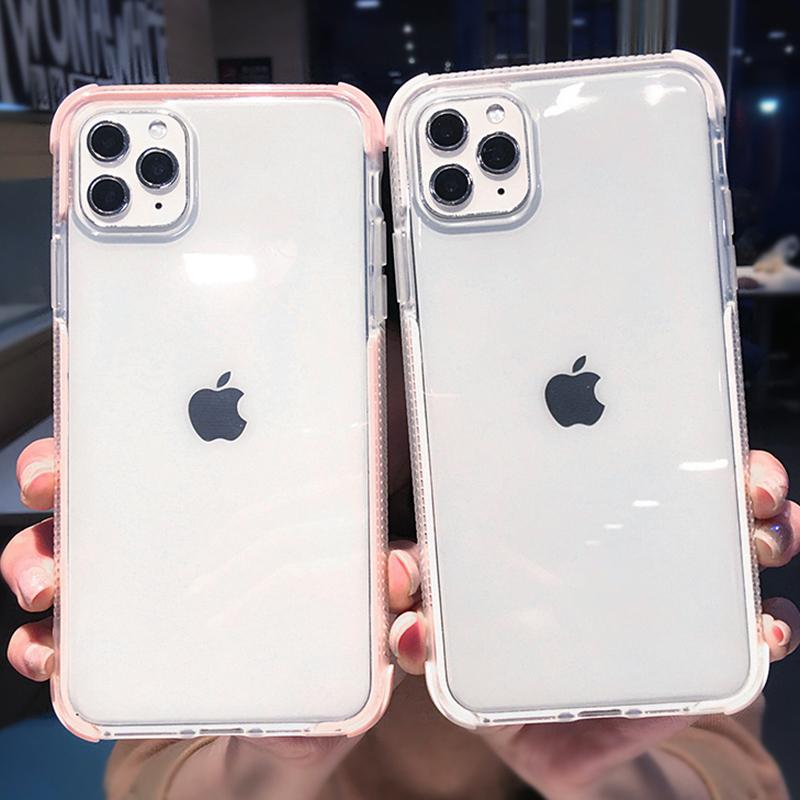 Bumper Transparent Phone Case For Iphone 11 11 Pro Max Xr Xs Max X 8 7 6 6s Plus Soft Tpu Shockproof bbyUTY bdepack2001