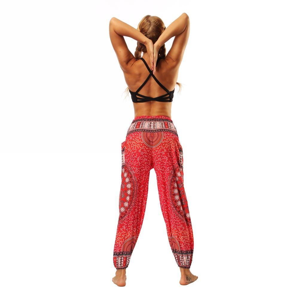 TL006- Red round circle wide leg loose yoga pant leggings (7)
