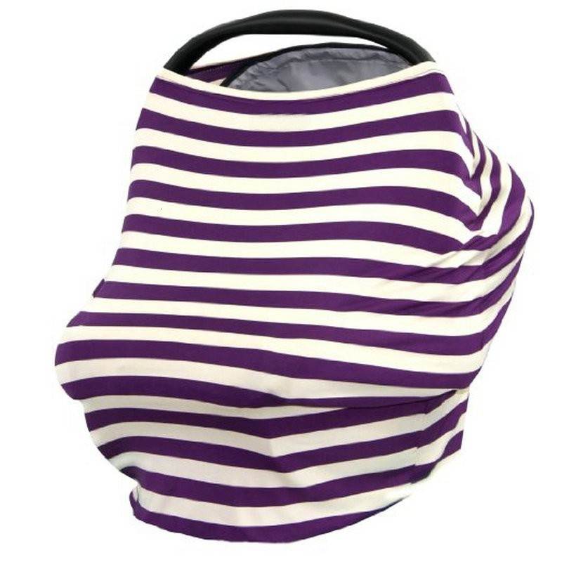 Multi-Use Stretchy Baby Nursing Breastfeeding Privacy Cover Scarf Blanket Stripe Infinity Scarf Baby Car Seat Cover Nursing Cover