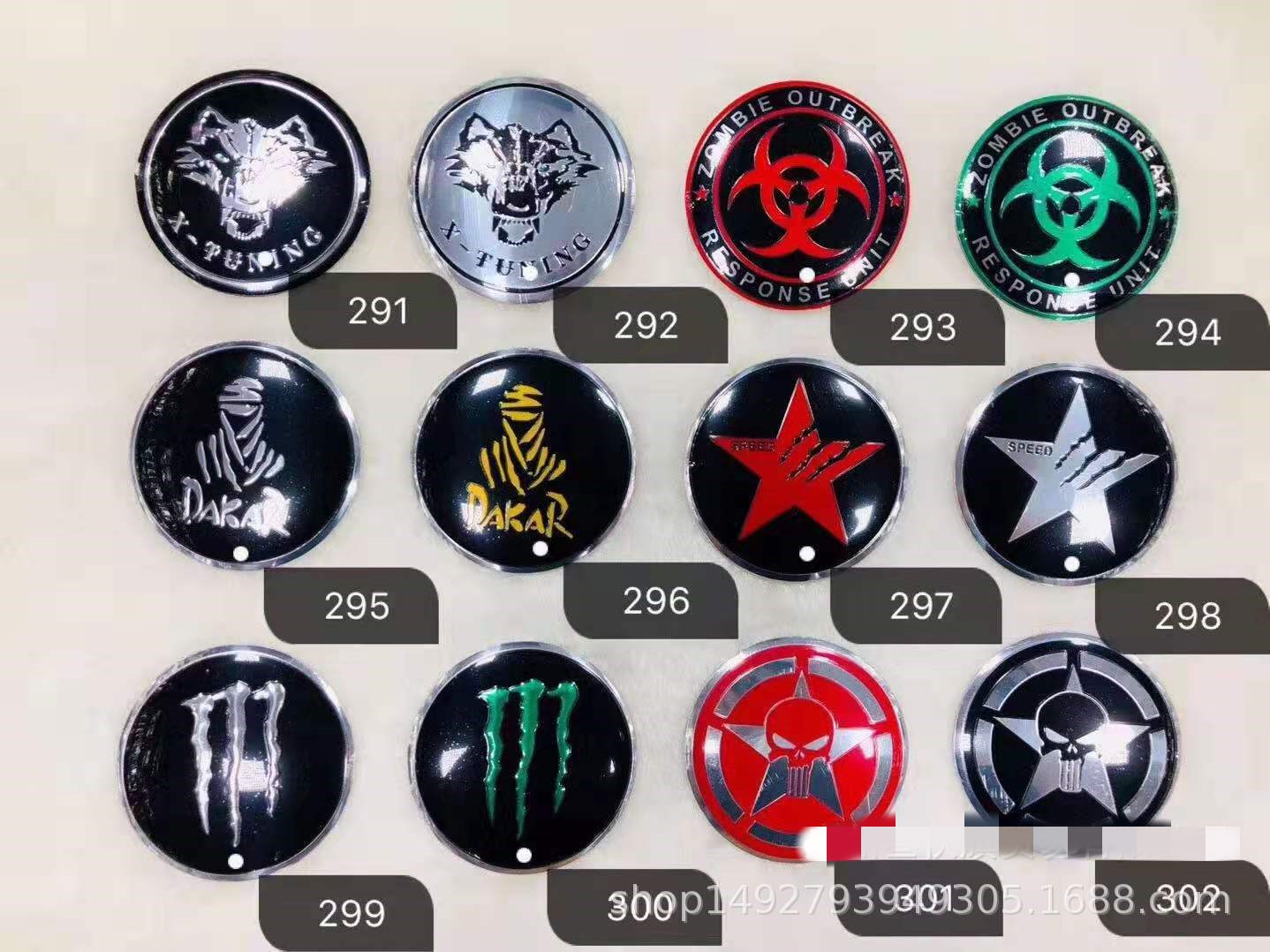 Power logo Car Decoration Rear Sticker Alloy Metal Power Badge Emblem fits most make and models 3D Black Plated ////// Power Car styling Blue