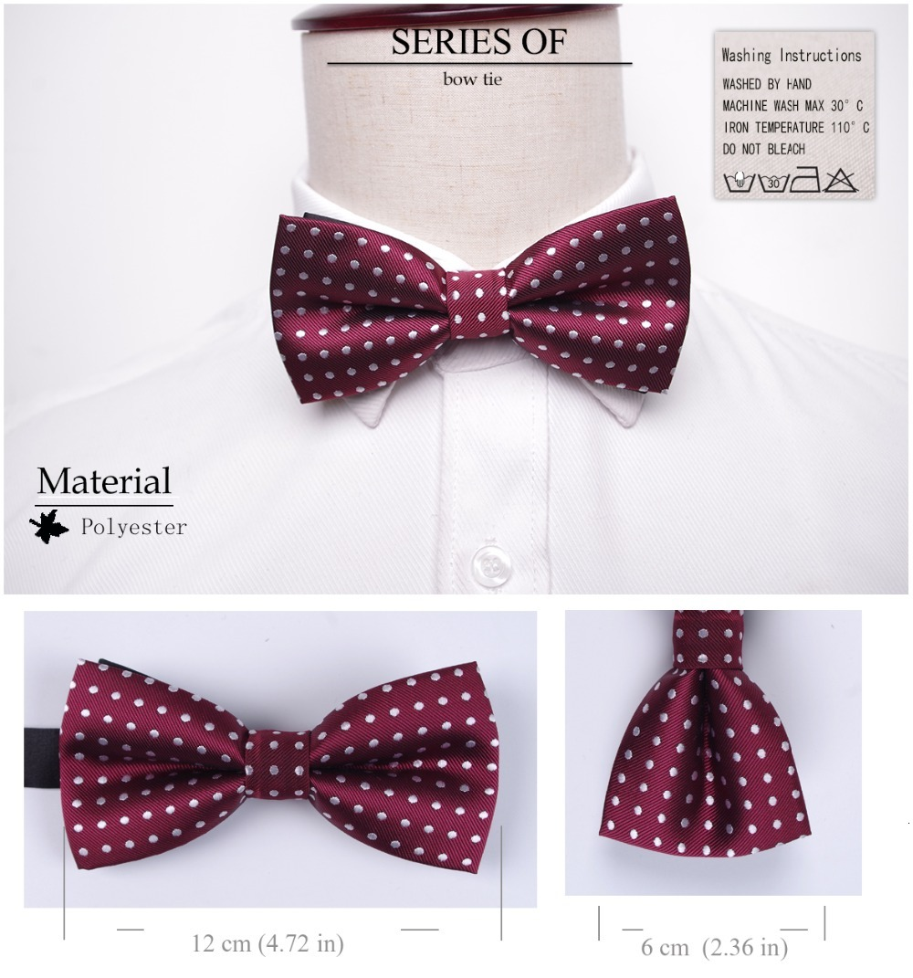 Solid Fashion Bowties Groom Men Bow ties Colourful Plaid Cravat gravata Male Marriage Butterfly Wedding Bow ties