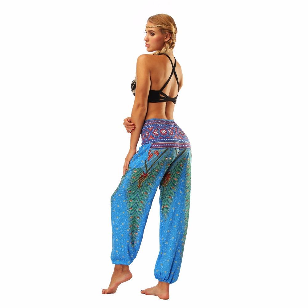 TL002- blue loose yoga pant legging (7)