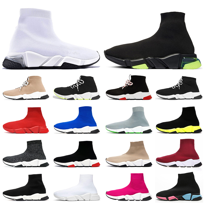 Top Quality Women sock trainers Mens Clearsole Sock Shoes Tripler Casual Shoes Beige Black White Red Luxury Designer Sneakers Boot Trainers