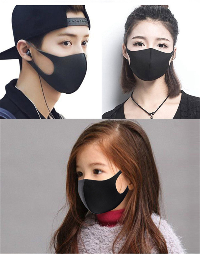 face mask fashion kids face masks thin ice silk dust proof Adult Children anti dust washable mask sunscreen breathable facemask