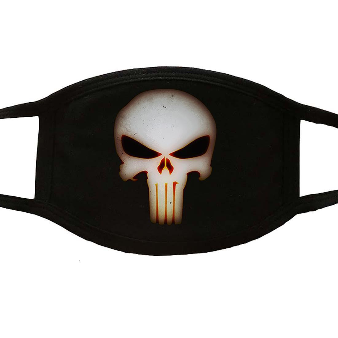 Horror Skull Print Masks Adult Windproof Mouth Face Muffle High Quality Reusable Washable Mouth Black Mask Casual Keep Warm Mask WPWAb
