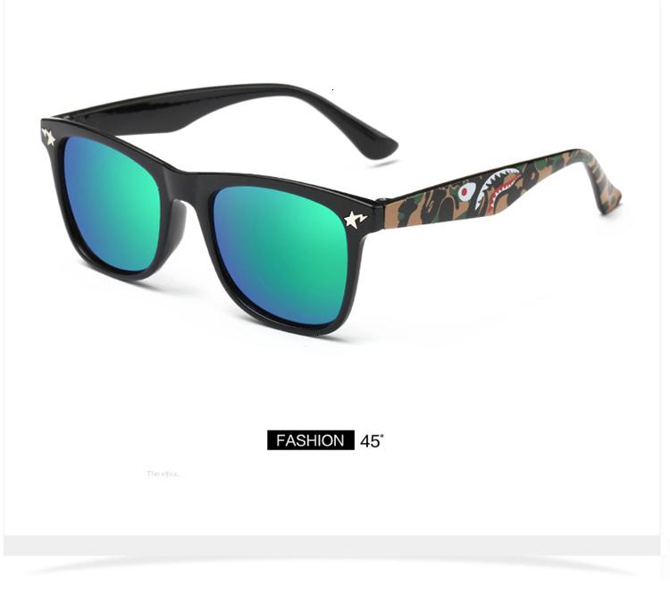 MOSILIN Brand Kids Camouflage Sunglasses Baby Military Goggles Glasses Girls Boys Mirror Coating Eyewear Flat Shark Oculos Infantil (4)