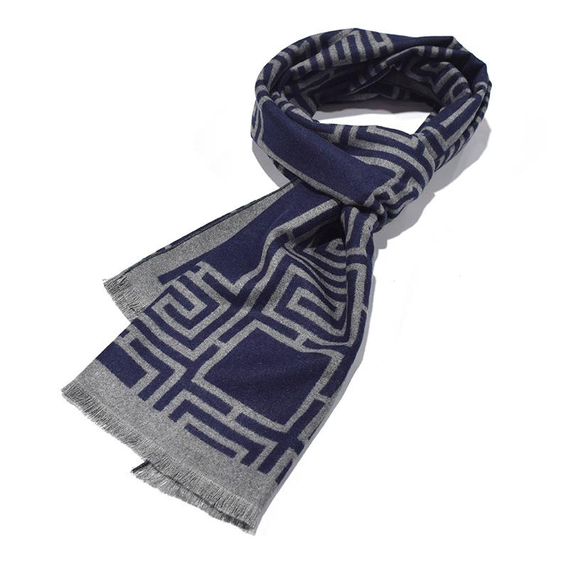 Soho Scarves Bufanda de seda para hombre dise/ño vintage de cachemira