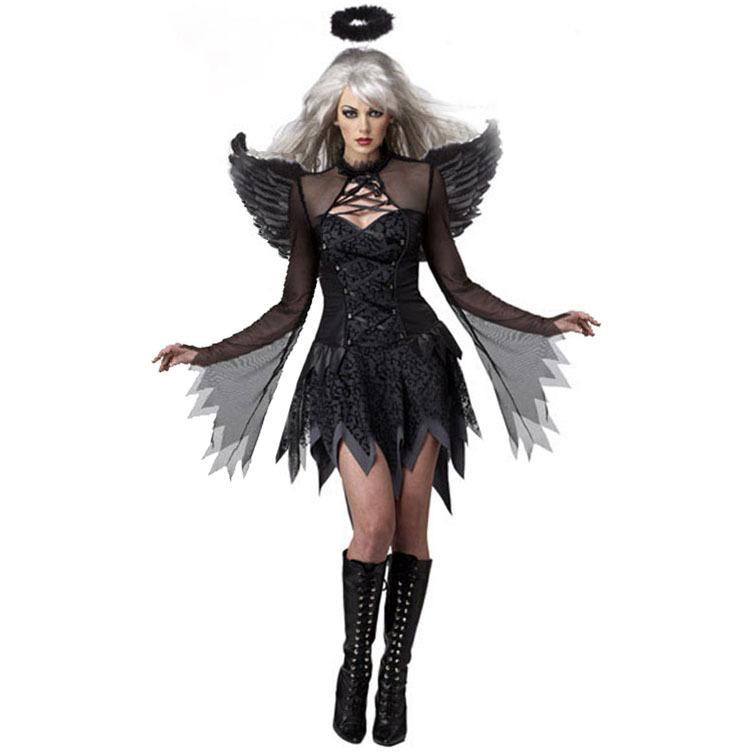 Donna Strega Diavolo Angel Scheletro la Sposa Cadavere Costume Halloween