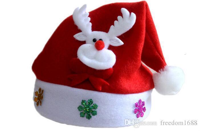 New Christmas Decoration hats High-grade Christmas hat Santa Claus hat Cute adults Christmas Cosplay Hats