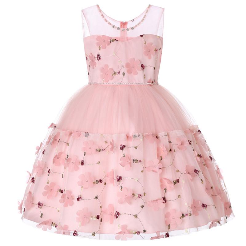Elegant Pearl Applique Girls Dresses Teenage Princess Birthday Wedding Party Ball Gown Fashion Children Dress For Kids Clothes (5)