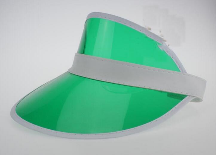 Neon rave sun shade retro party cap plastic visor sun hat rave festival fancy dress poker headband