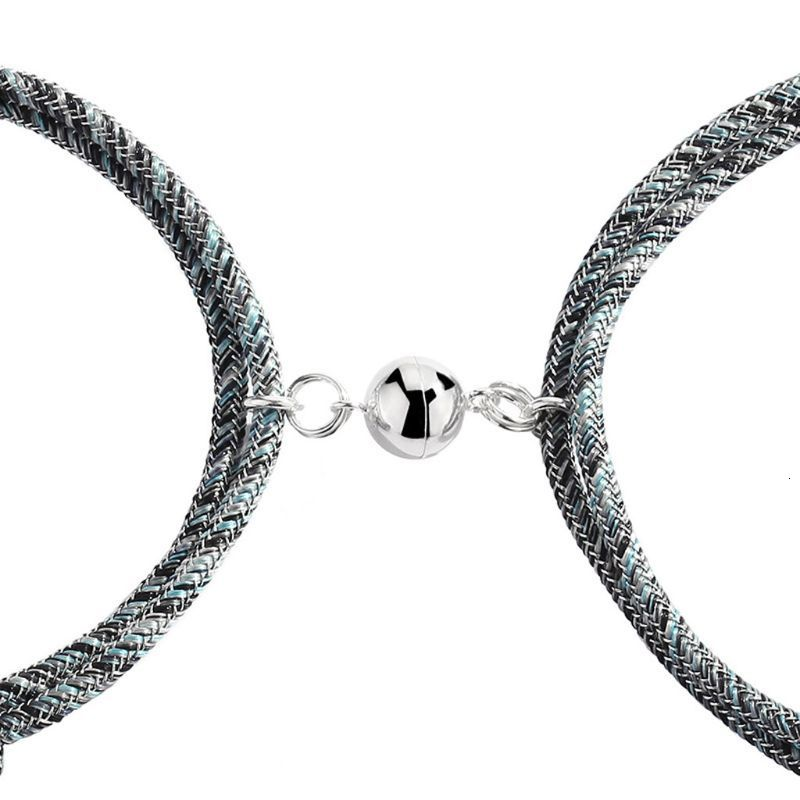 2Pcs-Friendship-Rope-Braided-Distance-Couple-Magnetic-Bracelet-Kit-Lover-Jewelry
