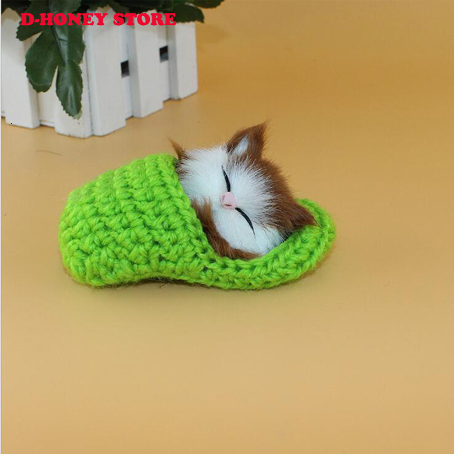 10cm Super Cute Simulation Sounding Shoe Kittens Cats Plush Toys Kids Appease Doll Christmas Birthday Gifts