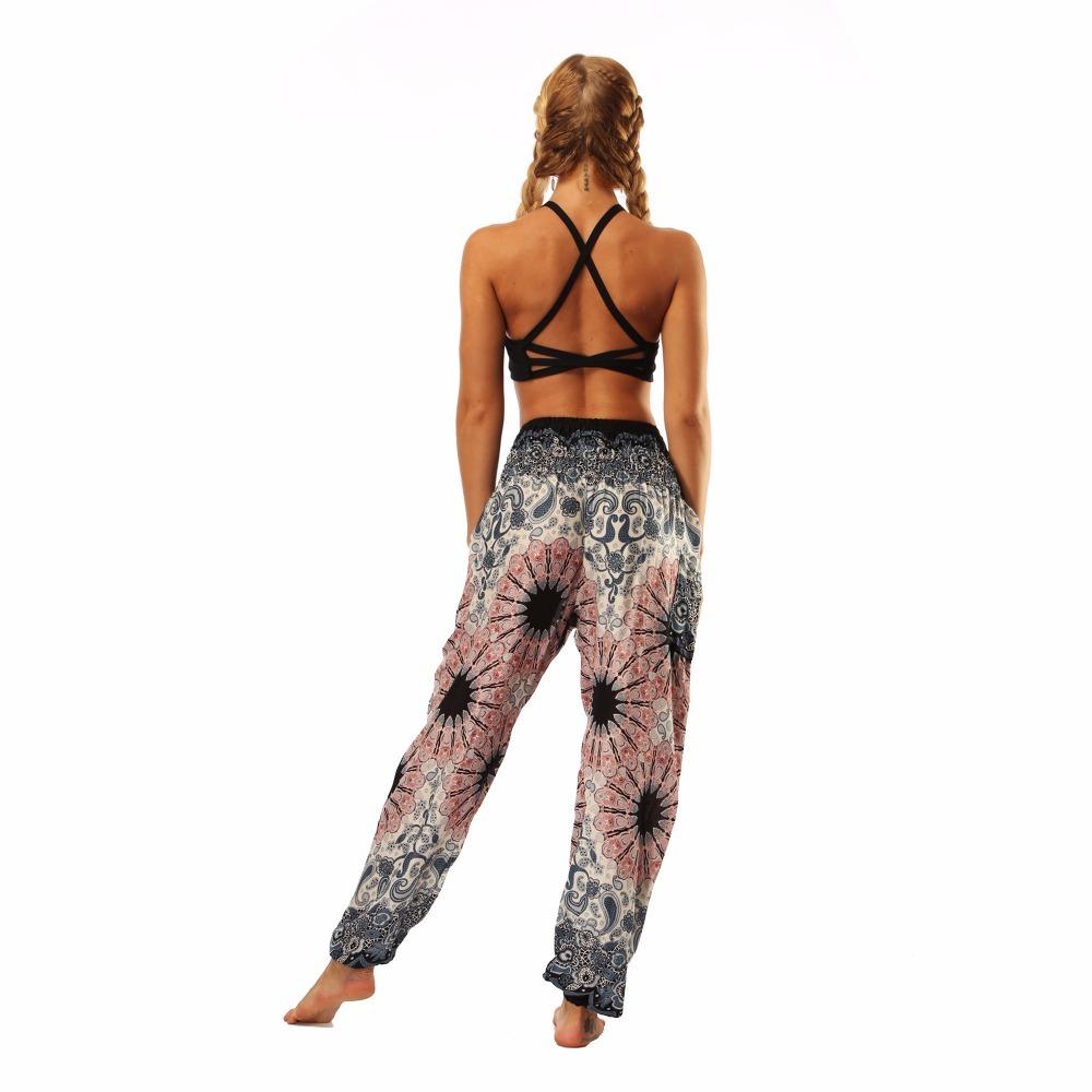 TL010- Watercolor floral wide leg loose yoga pants leggings (8)