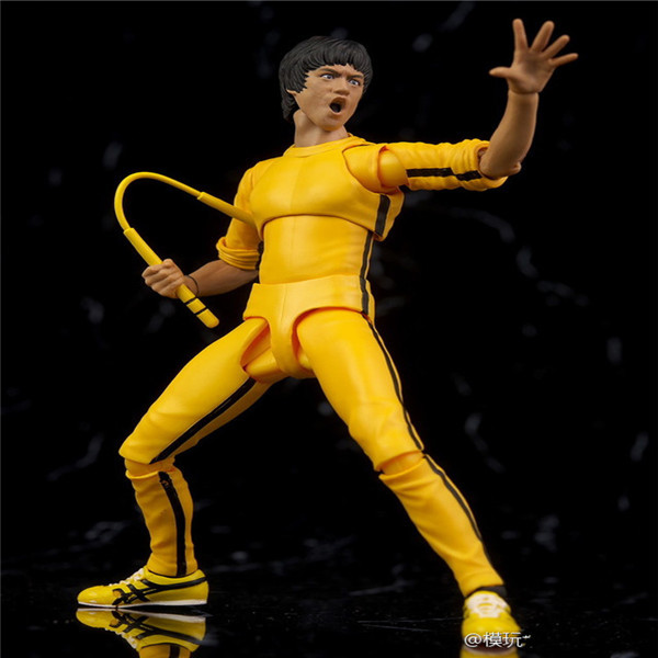SHFiguarts King of Kung Fu Bruce Lee Variant With Nunchaku Action Figure Collectible Model Toy 15cm (11)