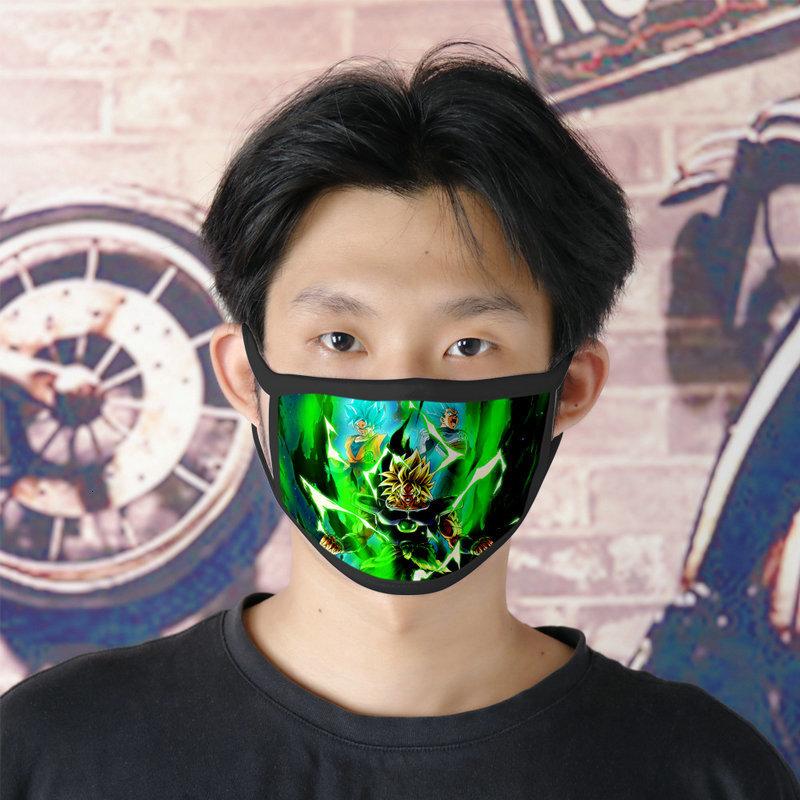 Dhl Vegeta 0620 Cartoon Facemasks Cute Face Mask For Mens Ice Silk Bilayer Cubrebocas Masque Tissu Tapaboca zltrimmer007 lXbBp