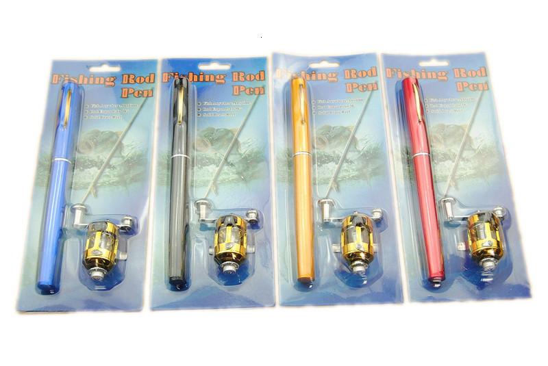 3ft Mini Telescopic Portable Pocket Ice Fishing Rod Pen Aluminum Alloy Fishing Rod Pole + Rod Reel Combo