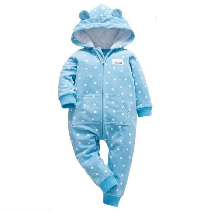2019 fall winter baby clothes new born boy girl long sleeve hooded jumpsuit toddler onesie costume fleece overalls infant romper