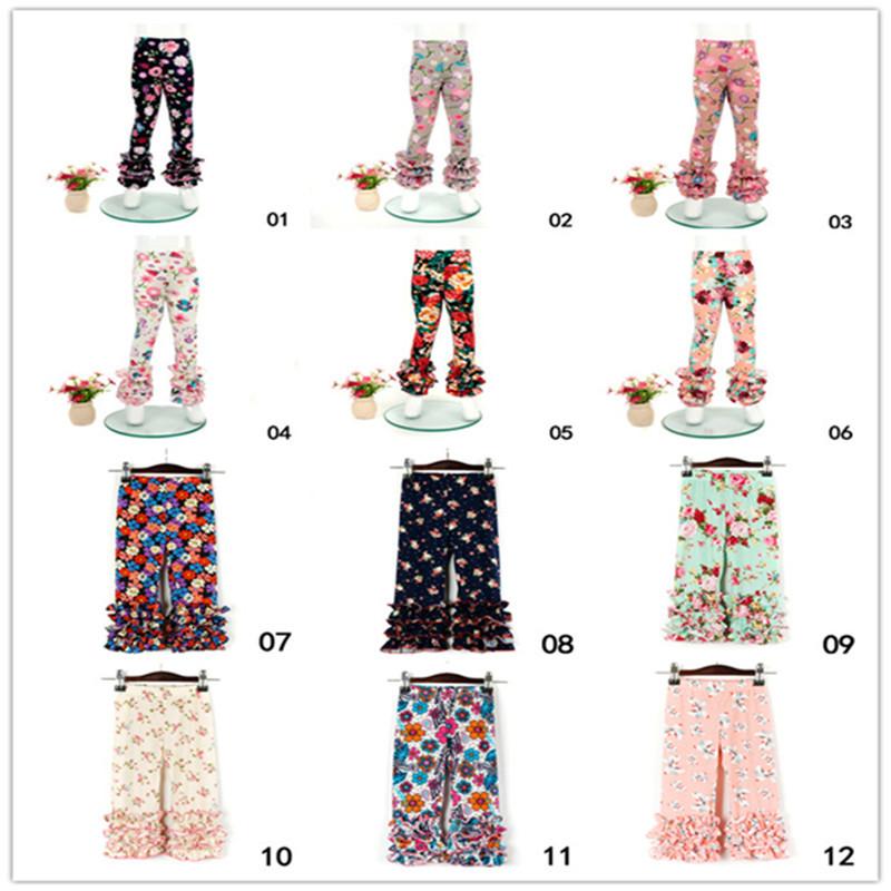 Toddler Kids Baby Girl Print Leggings Leggings Lace Pants Fashion Children Girls Trousers 0-6Y For