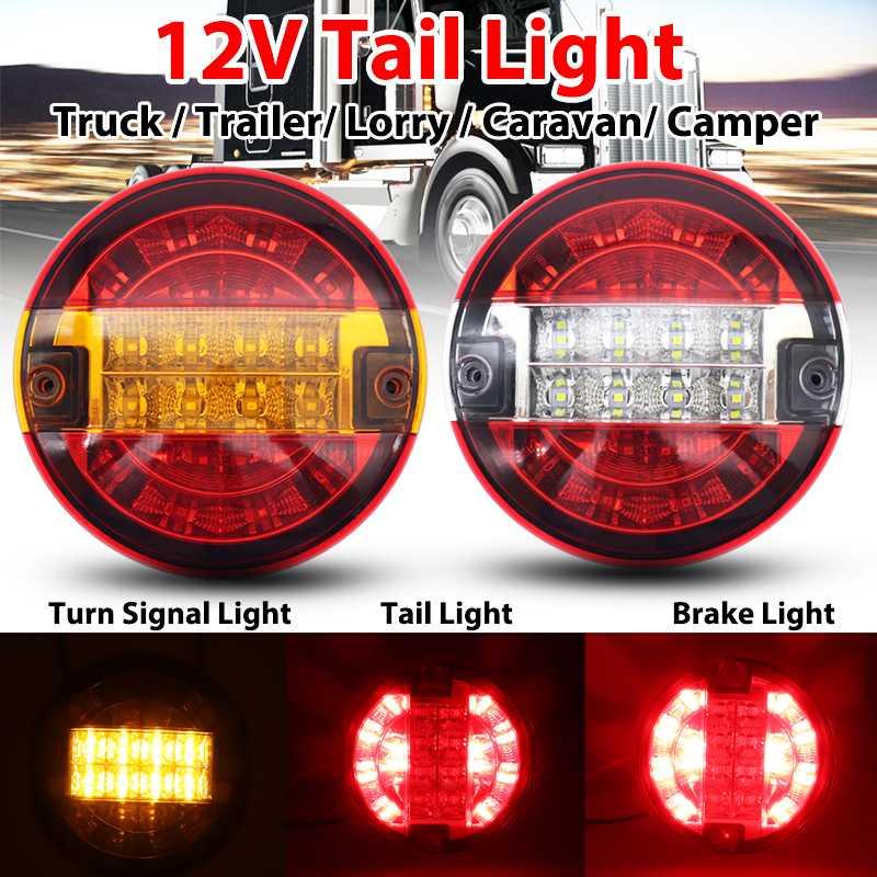 DJYJD 1pair 12-24 7 LED Bleue Camionnette Remorque Ronde Clearance lumi/ère marqueur Voiture Indicateurs lumi/ère