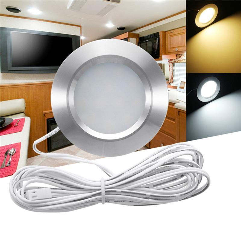 2X Bright Wide 12V DC LED Interior Roof Ceiling Light Strip RV Motorhome Van UK