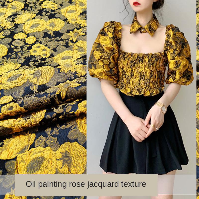 Vestido de satén suave de buena calidad Impreso Tela Vendido por metros 150 cm de ancho Barato 03