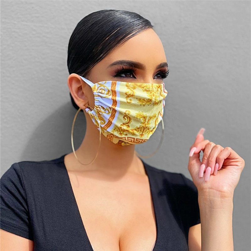 In Stock Designer Face Mask Luxury Mask Washable Dustproof Riding Cycling Sports Floral Print Fashion Masks for Men and Women
