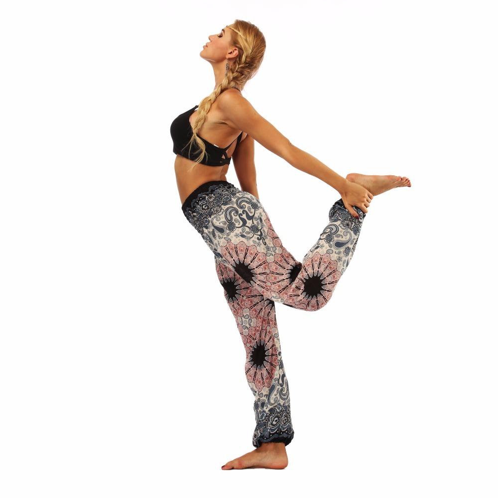 TL010- Watercolor floral wide leg loose yoga pants leggings (6)