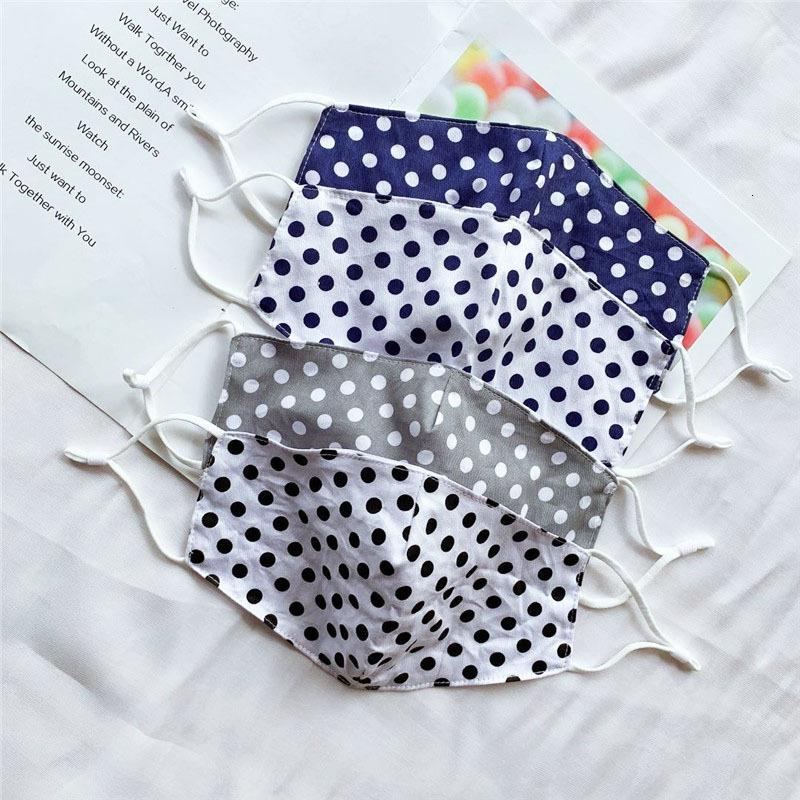 Men Women Cloth Face Mask Thin Sunscreen Striped Polka Dot Mouth Mask Can Washable Breathable Protective Designer Mask HH9-3111