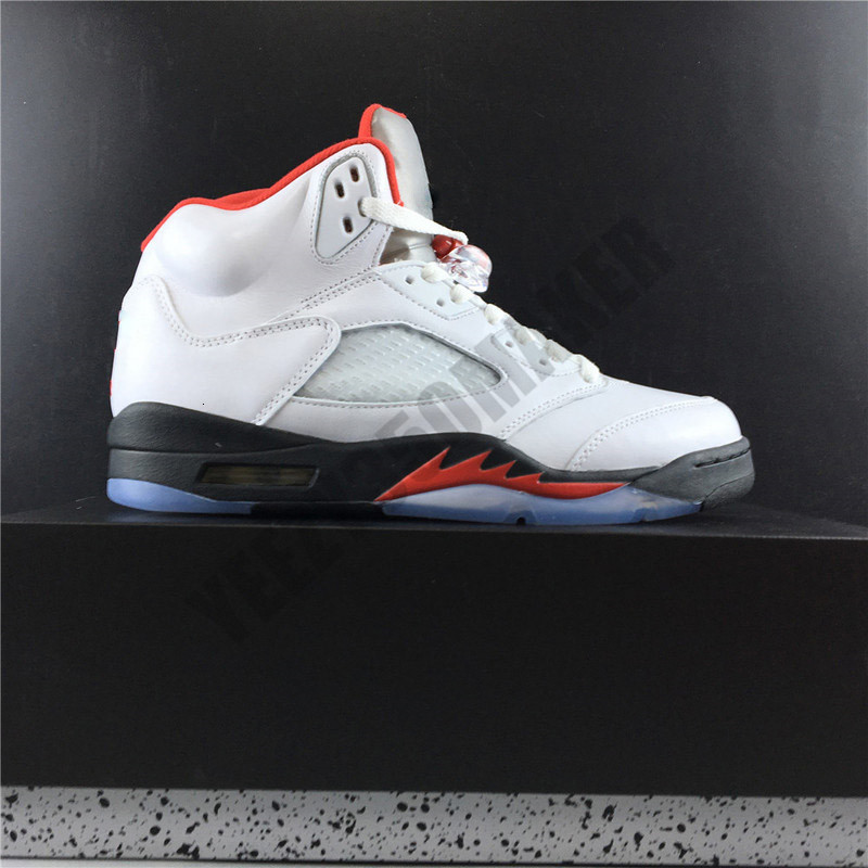 2019 OG 5 Inspire Fire Red Jumpman Basketball Shoes 5s Leather Upper Designer New Fashion Mens Trainers Sports Sneakers Size 7-13 DA1911-102