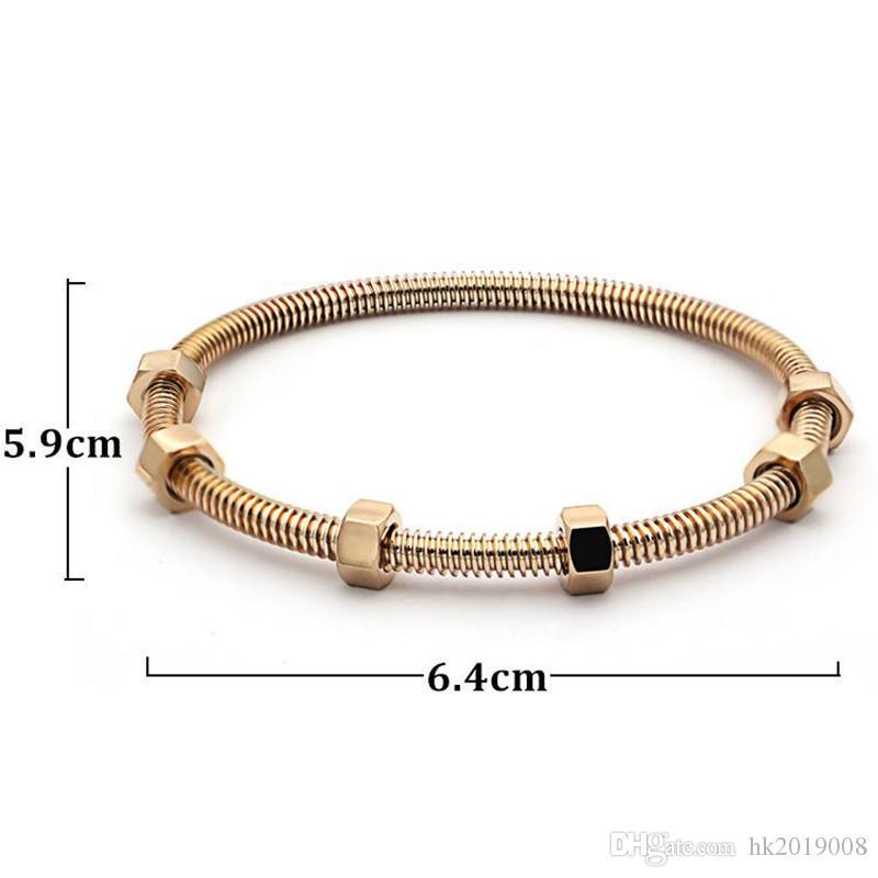 Top jewelry latest 6 screw Bracelets titanium steel ladies love bangle men and women couple thread bracelet with Original box