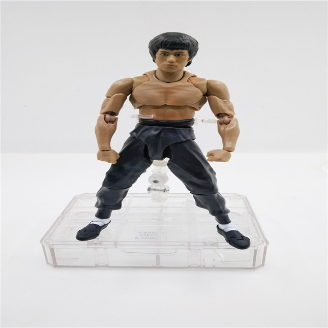SHFiguarts King of Kung Fu Bruce Lee Variant With Nunchaku Action Figure Collectible Model Toy 15cm (2)