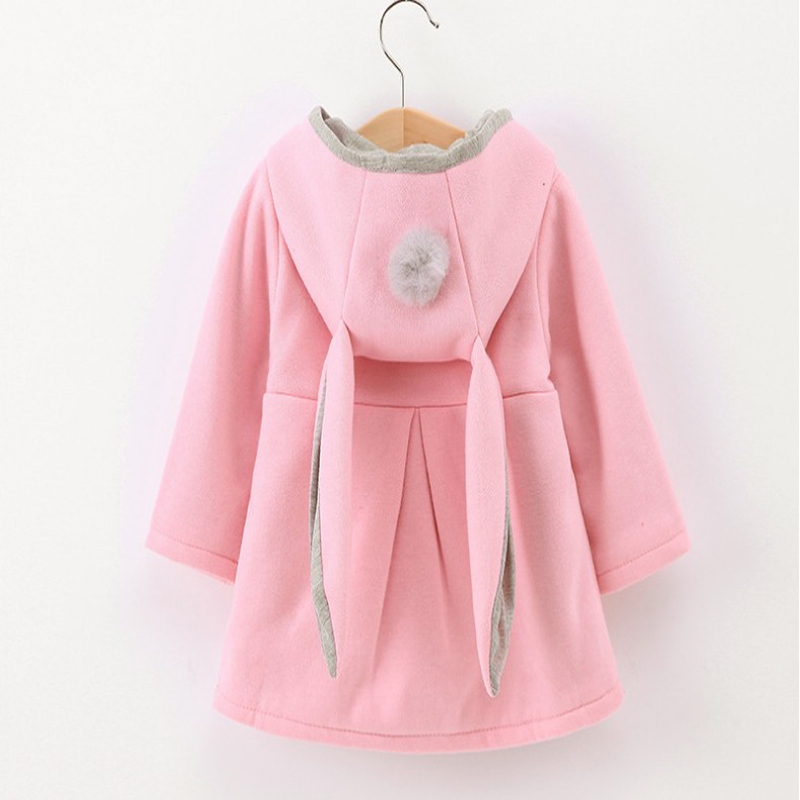 2019 SPRING AUTUMN BABY GIRL JACKETS Kids Clothing fashion child coats warm Cute Rabbit Ear Hooded toddler infant Outerwear