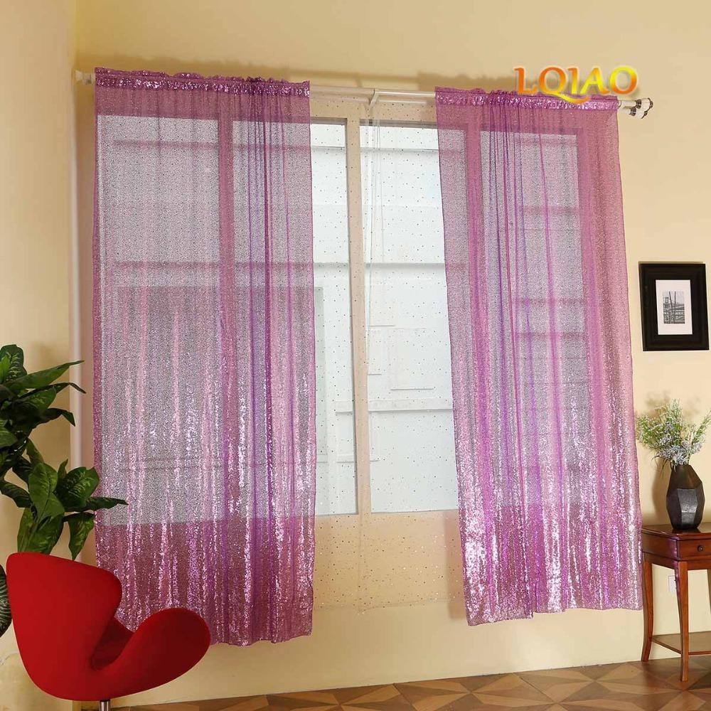 Lavender Sequin Curtain 001