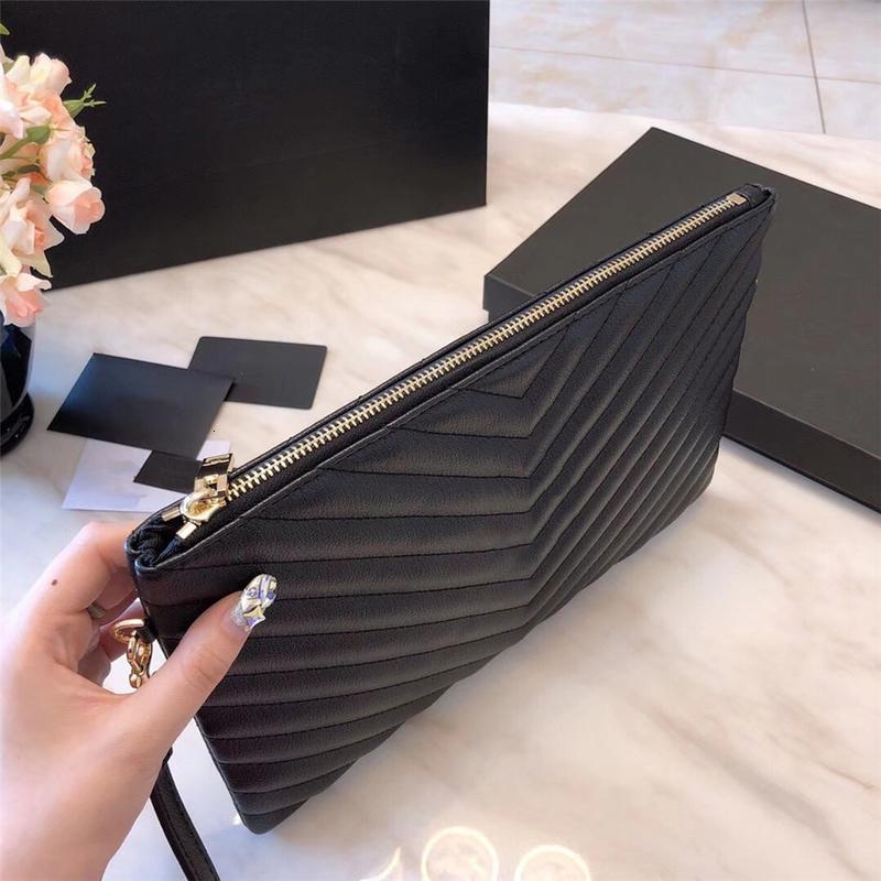 2020 top 3A classic wallet handbag ladies fashion clutch bag soft leather fold messenger bag fannypack handbag with box wholesale